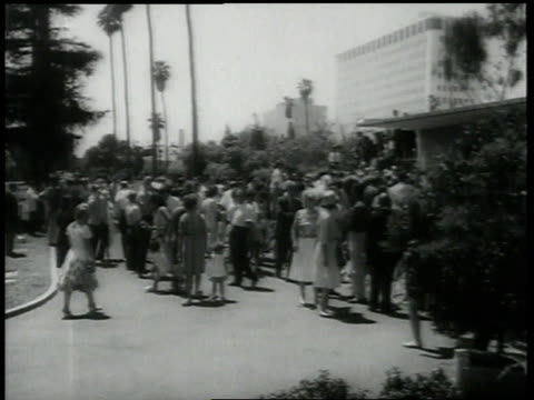 crowds mourn / joe dimaggio heads to funeral / crowds mourn - 1962 stock videos & royalty-free footage
