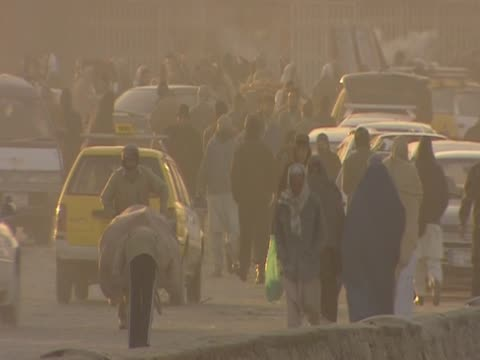 crowds of people on the streets of kabul - number of people stock videos & royalty-free footage