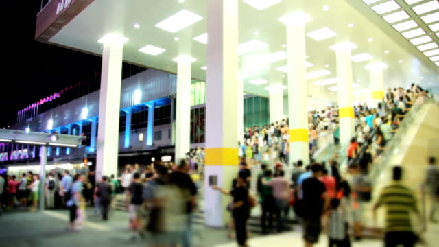 Crowds Of People Shopping