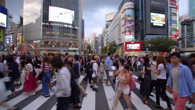 渋谷交差点を歩く人びと / 東京, 日本 - crowded点の映像素材/bロール