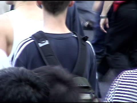 crowds of people walking in the street in manhattan toward the queensboro bridge, 2003 blackout, crowds walking in the street on august 14, 2003 in... - 2003 stock videos & royalty-free footage