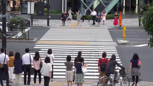 横断歩道を歩いている人々の群衆 - 歩行者点の映像素材/bロール