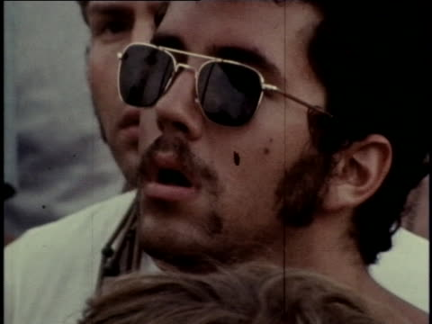 crowds of spectators gather at the woodstock music festival, and joe cocker performs. - youth culture stock videos & royalty-free footage