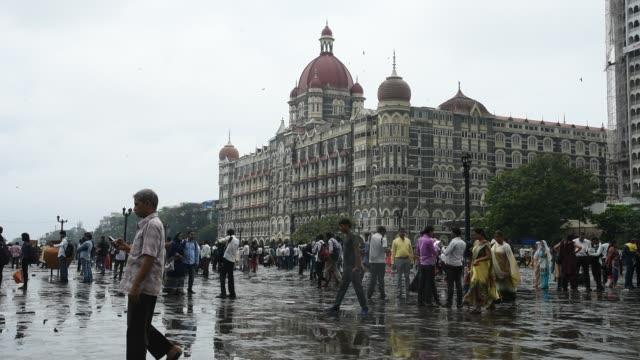 Crowds of tourist at The Gateway of India, Mumbai, Maharashtra, India