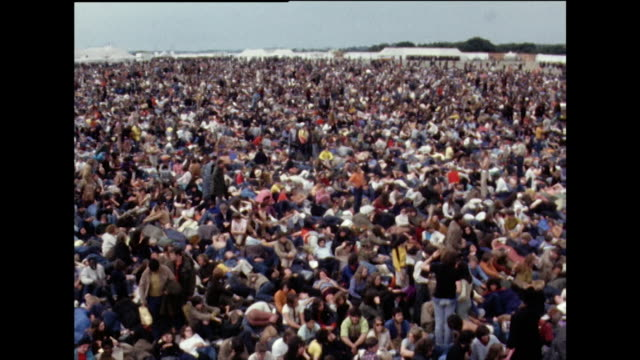 crowds of young people at isle of wight festival; 1969 - 1969 stock videos & royalty-free footage