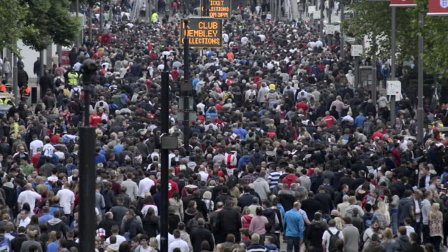 crowds on wembley way - wembley stock videos & royalty-free footage