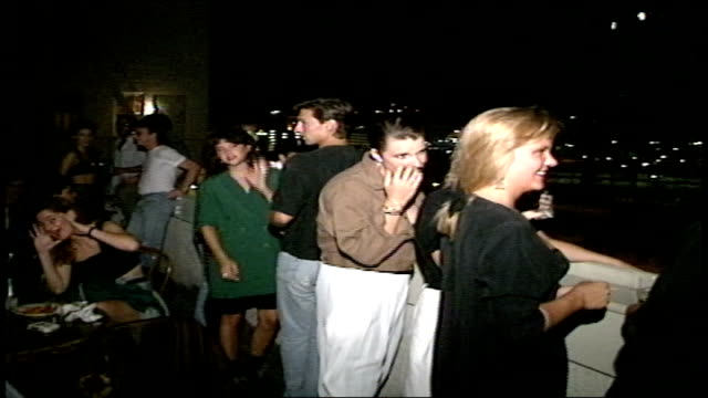crowds partying in los angeles nightclub - sunset boulevard stock-videos und b-roll-filmmaterial