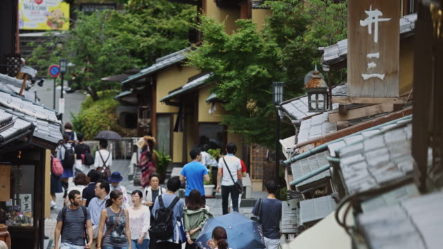 Crowds Window Shopping on Ninen-zaka, Kyoto