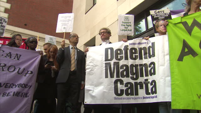 crown court trials are expected to face disruption today as criminal barristers join solicitors in a protest against legal aid cuts our social... - legal system stock videos and b-roll footage