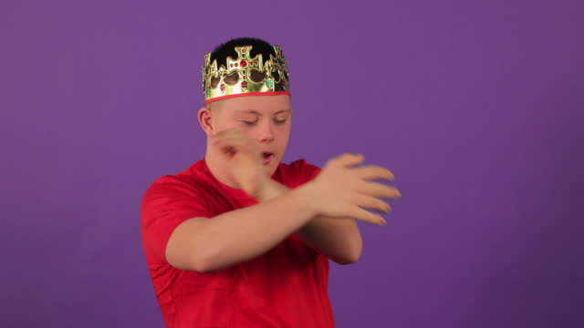 crown fit for a prince - one teenage boy only stock videos & royalty-free footage