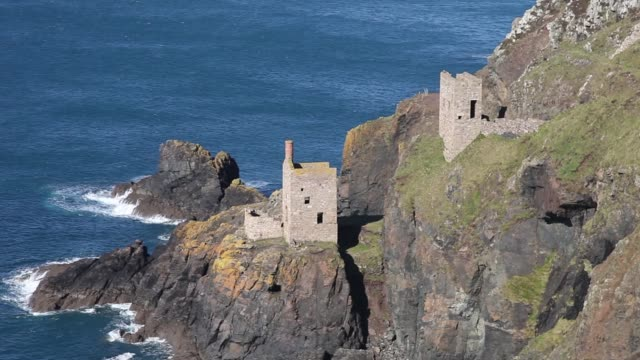 crown mines botallack cornwall - tin mine stock videos & royalty-free footage