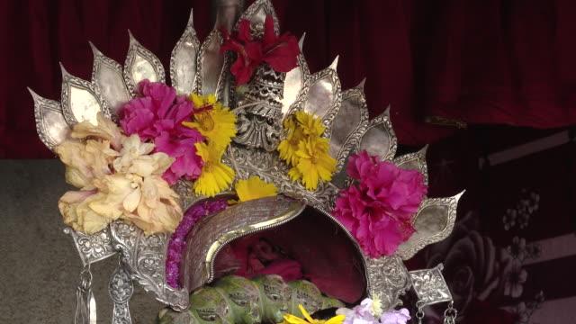 crown of kumari, close up - goddess stock videos and b-roll footage