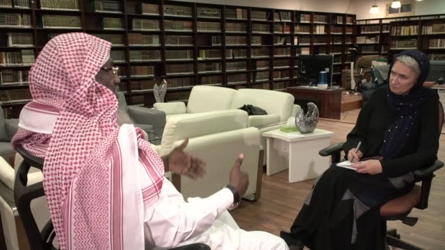 crown prince balances social change and traditional values with reforms; saudi arabia: riyadh: int adil al kalbani interview sot cutaway reporter at... - tightrope walking stock videos & royalty-free footage