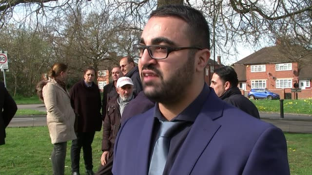 community leaders and local kurdish people gather at scene of attack croydon asylum seeker attack community leaders and local kurdish people gather... - shrubland stock videos & royalty-free footage