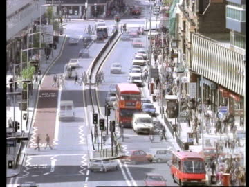 stockvideo's en b-roll-footage met t/l croydon town centre, high angle - shopping centre