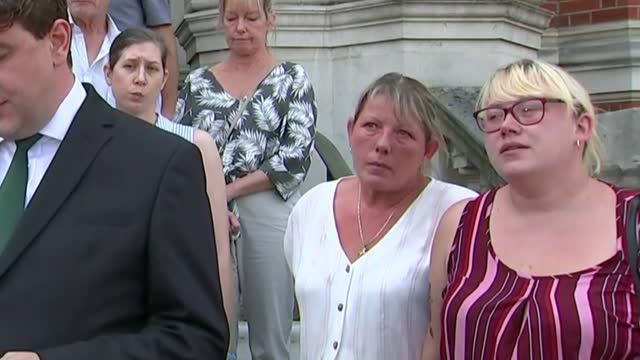 inquest rules crash deaths were 'accidental'; england: surrey: croydon town hall: ext various shots of families of victims of 2016 croydon tram crash... - misfortune stock videos & royalty-free footage