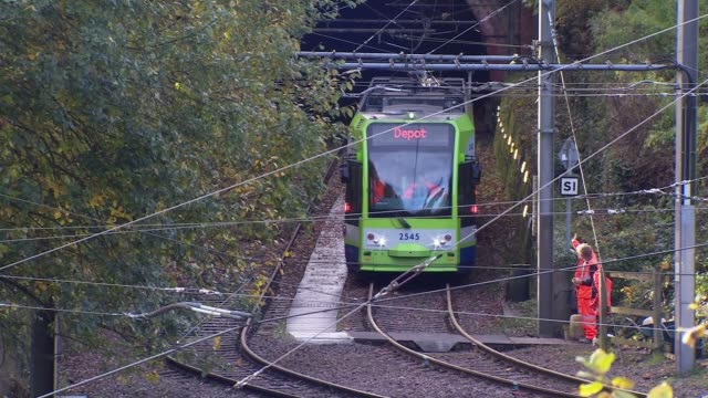 Tram was travelling more than three times the speed limit ENGLAND London Croydon EXT Tram driven along track close to scene of crash that killed 7...