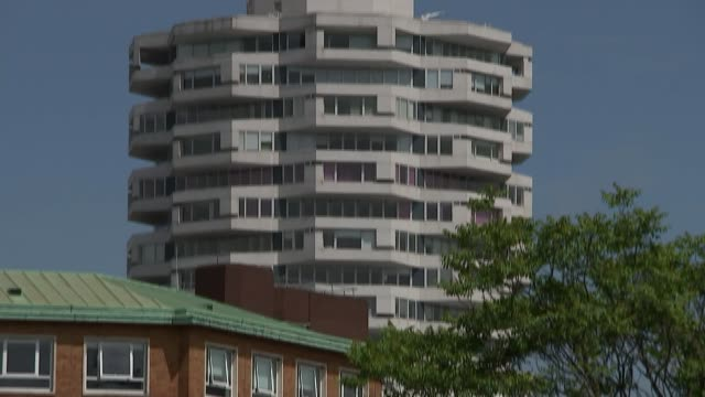 croydon walking tours winston mckenzie interview sot on having said that croydon is a bit of a dump 'one croydon' sign outside building with partial... - blocking stock videos and b-roll footage