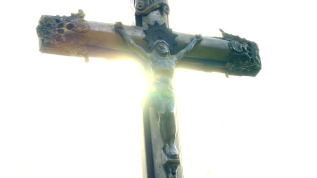 crucifix at sunet - gospel stock videos & royalty-free footage