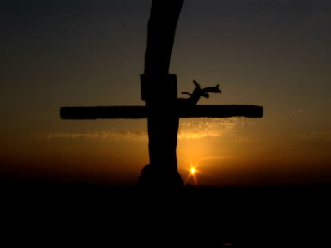 Crucifixion of Jesus Christ in silhouette