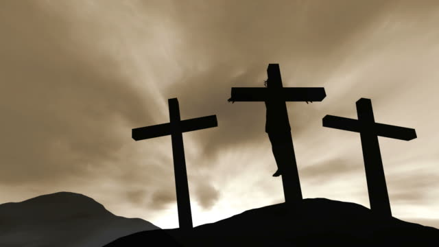 crucifixion of jesus christ - three objects stock videos & royalty-free footage