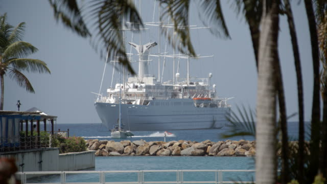 Cruise liner in the bay / St Lucia, Caribbean
