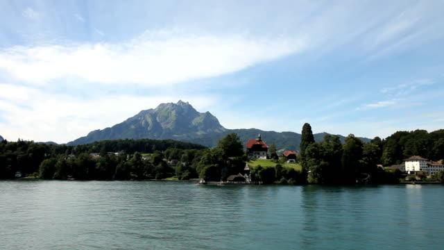 cruise on lake lucerne - lake lucerne stock videos & royalty-free footage