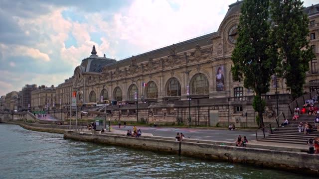 vidéos et rushes de croisière sur la seine à paris - monument