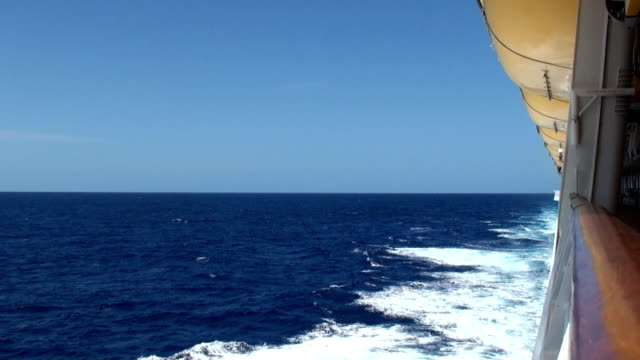 cruise ship and wake - trans-atlantic crossing - wake water stock videos and b-roll footage