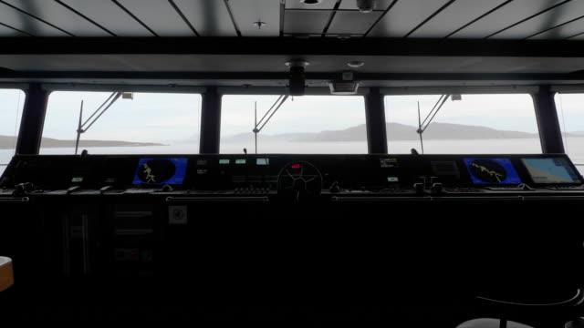 cruise ship bridge general view - kryssa bildbanksvideor och videomaterial från bakom kulisserna