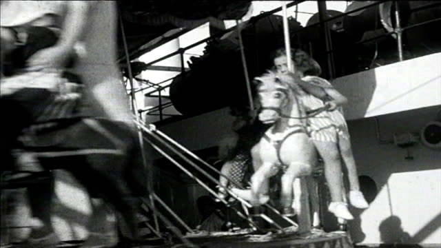 1925 cruise ship carousel - 1920 stock-videos und b-roll-filmmaterial