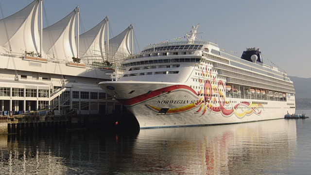 WS ZO T/L Cruise ship docked in Vancouver / Vancouver, British Columbia, Canada