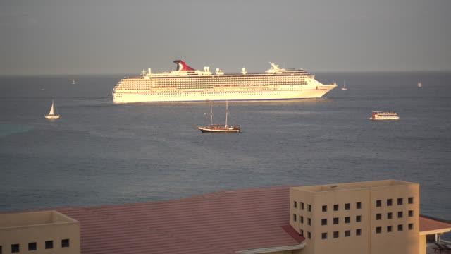 a cruise ship in cabo san lucas, mexico. - cabo san lucas stock videos & royalty-free footage