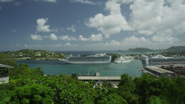 WS HA Cruise ship in harbor / Castries, St. Lucius, Caribbean