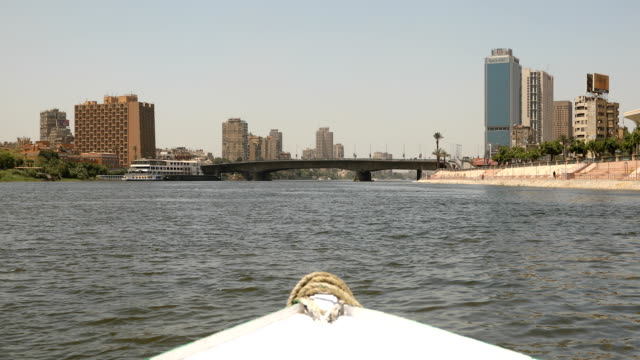 cruise ship on nile river in cairo city, egypt - river nile stock videos & royalty-free footage