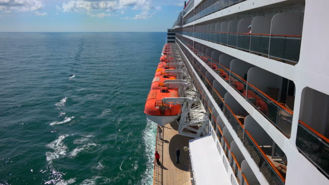 Cruise ship Queen Mary 2 in Atlantic Ocean near Stavanger, Norway, Scandinavia, Europe