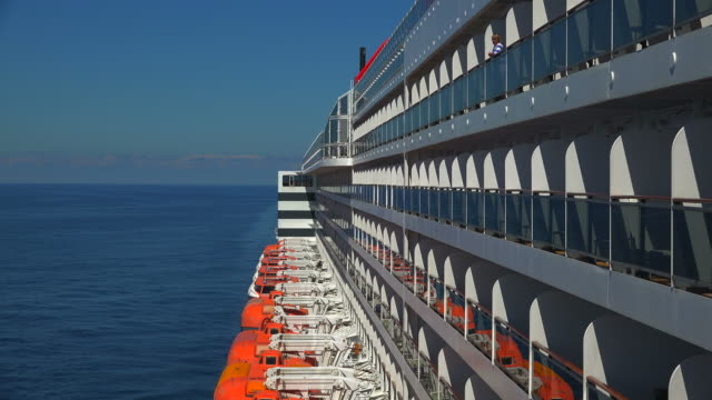 cruise ship queen mary 2 in atlantic ocean near stavanger, norway, scandinavia, europe - stavanger stock videos & royalty-free footage