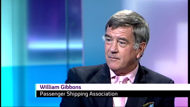 QE2 cruise ship to become floating hotel Channel 4 News at Noon London INT William Gibbons interview SOT