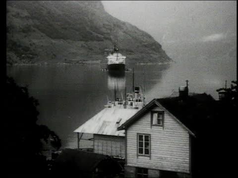 cruise ship tour of the coast of norway - nordatlantik stock-videos und b-roll-filmmaterial
