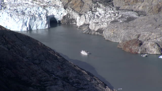 a cruise ship travels near a glacier in alaska. - cruising stock videos & royalty-free footage