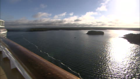 a cruise ship travels near the coast of finland. - finland stock videos & royalty-free footage