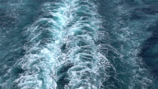 cruise ship wake in mediterranean sea - cruise stock videos & royalty-free footage