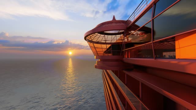nave cruiser in mare - cruising video stock e b–roll