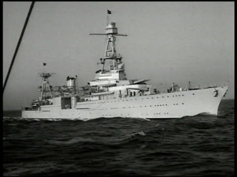 Cruiser USS Houston at sea