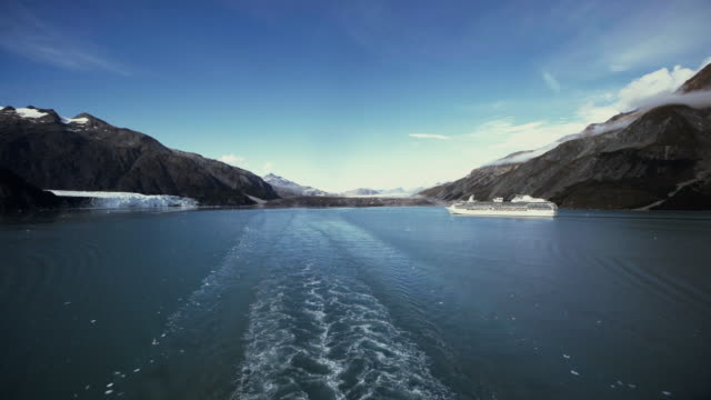 cruiseship in glacier - cruise stock videos and b-roll footage