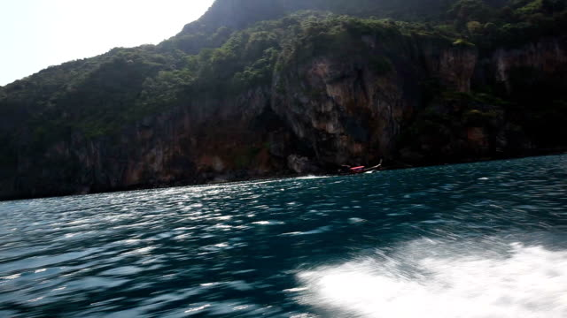 cruising at phi phi islands - phi phi islands stock videos & royalty-free footage