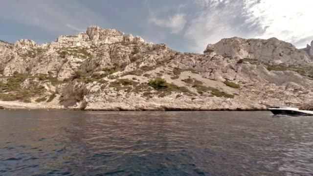 cruising in calanques area of cassis - pjphoto69 stock videos & royalty-free footage
