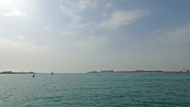 cruising near dubai coastline - pjphoto69 stock videos & royalty-free footage