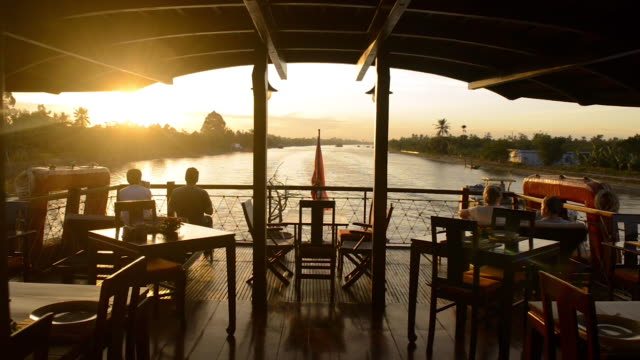 cruising on the mekong delta, vietnam - deck stock videos & royalty-free footage