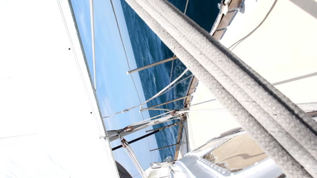 cruising sailing yacht - rigging nautical stock videos & royalty-free footage